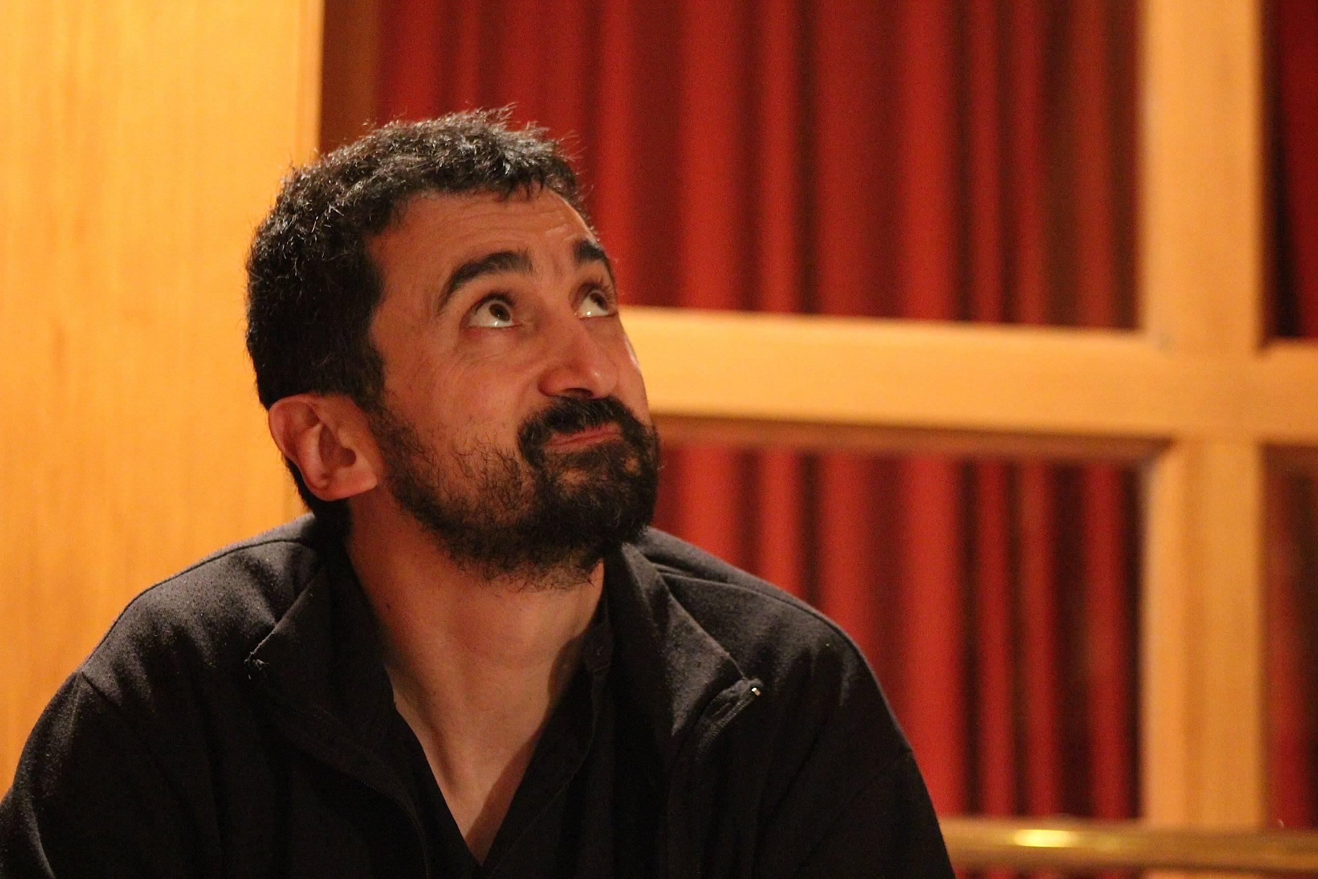 Feliu Ventura, poco después de acabar la entrevista con Negra Tinta / Pablo Sierra