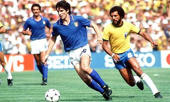 Paolo Rossi volvió loco a la defensa brasileña en el mundial de España 82