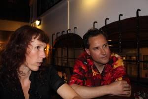 Eddy y Amanda en un momento de la charla /Foto: Raúl Díaz Guerrero