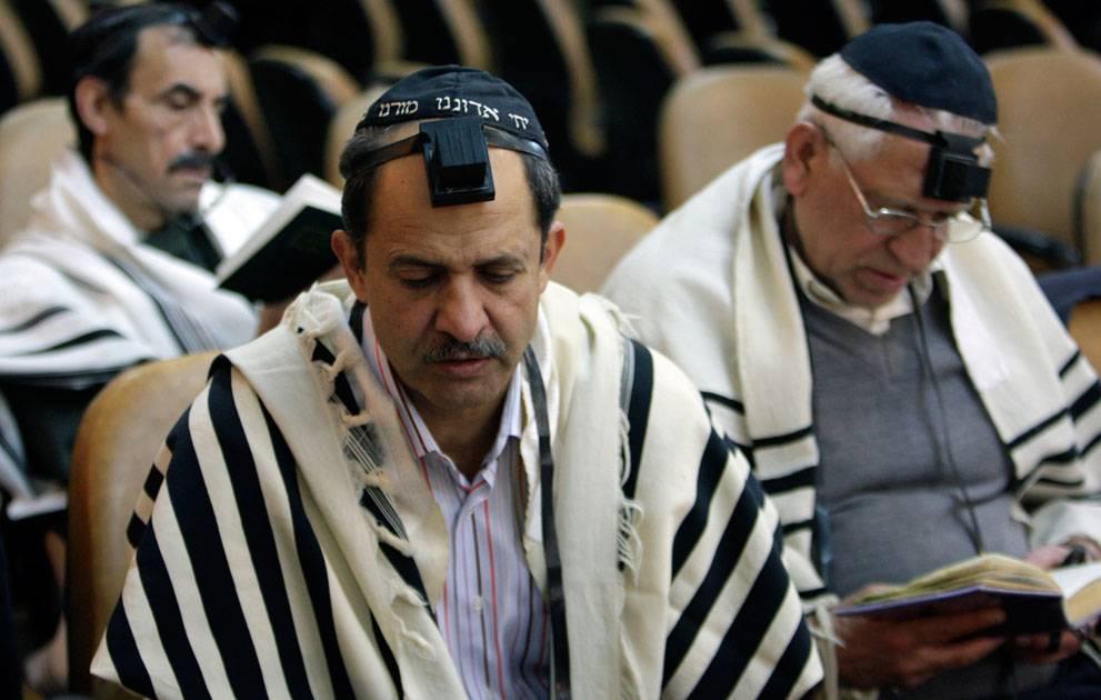 Dentro de una sinagoga de Irán