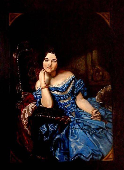 Amalia de Llano y Dotres, condesa de Vilches (Federico de Madrazo) 27x17cm.