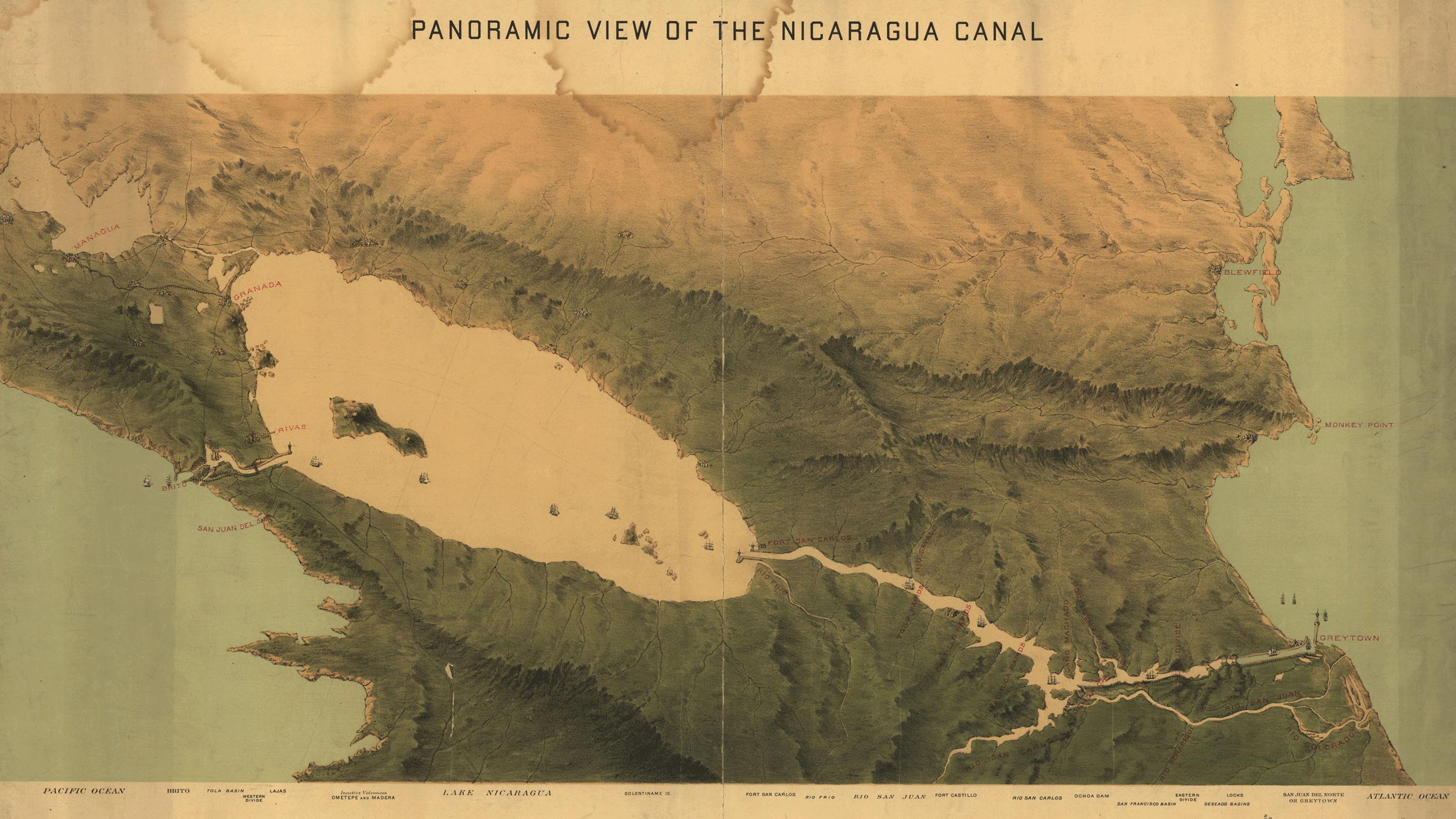 1870_Nicaragua_Canal_Map