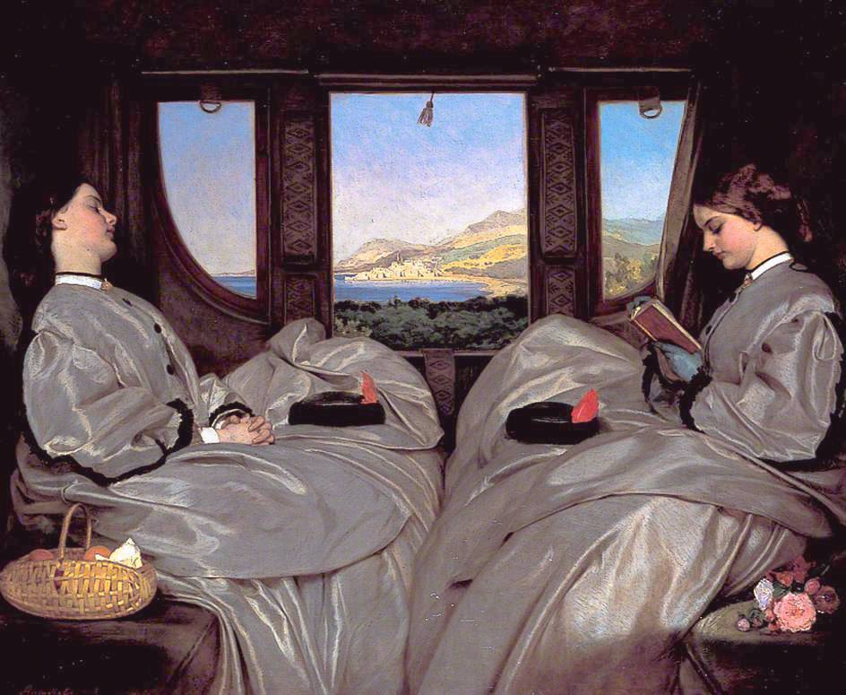 The Travelling Companions *oil on canvas *65.3 x 78.7 cm *1862