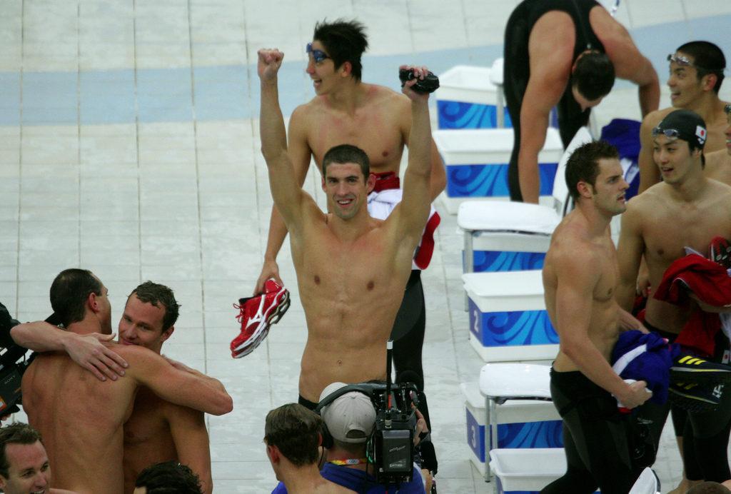 Michael Phelps contra el espejo