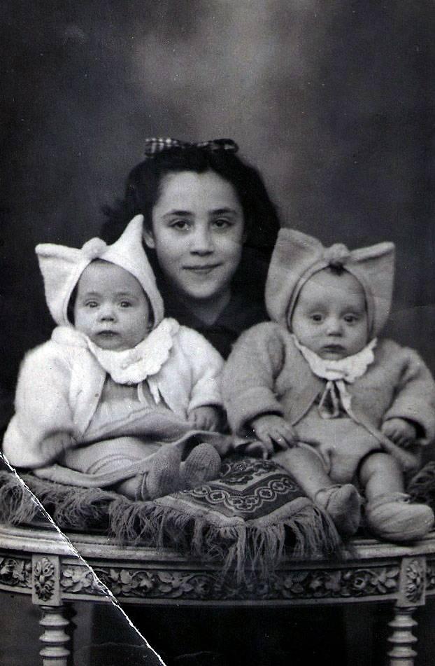 Carmen, Mauricio y Angelines, hijos del republicano Mauricio Pacheco. Archivo familiar