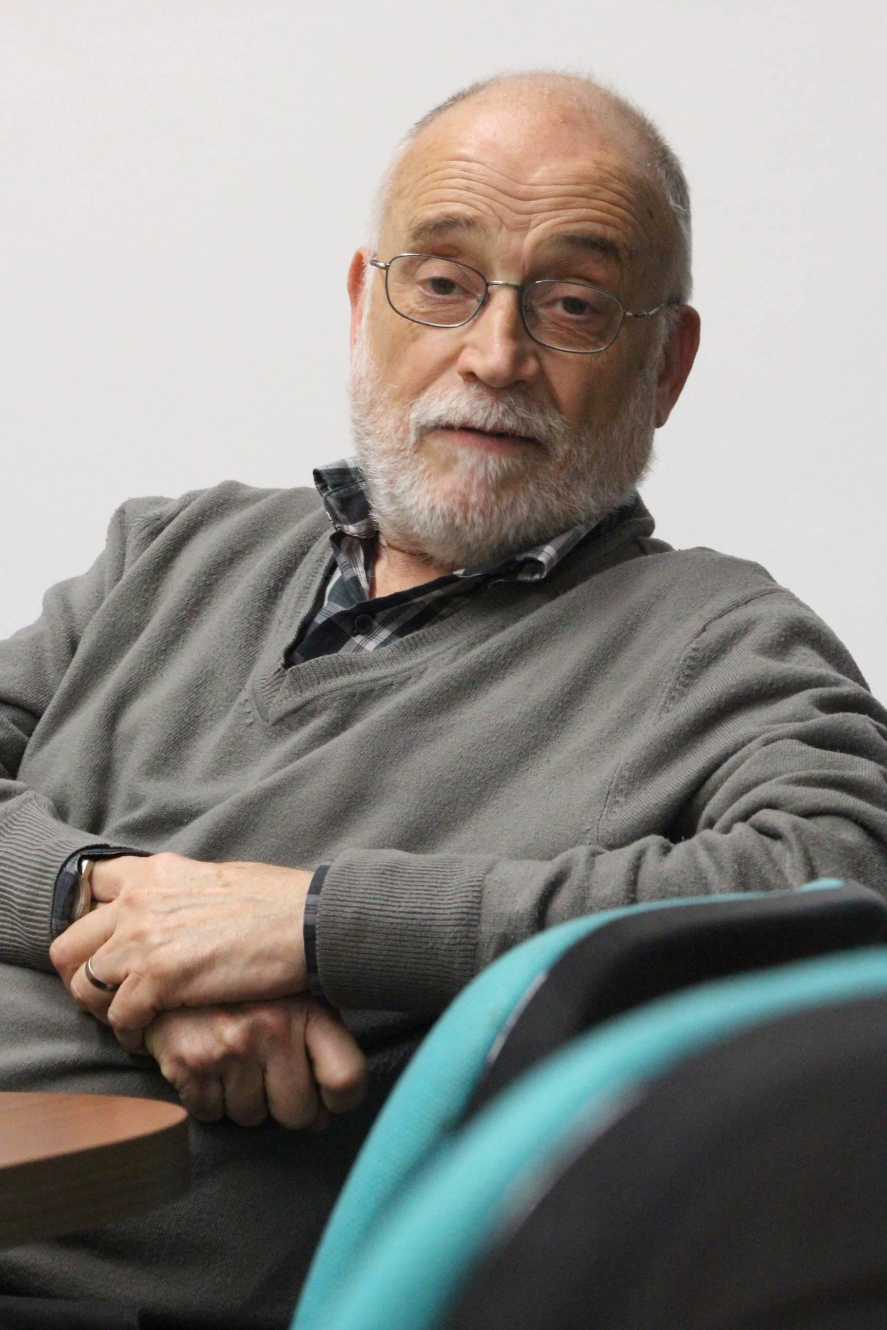 Oliveres, durante la conversación con Negra Tinta. Pablo Sierra