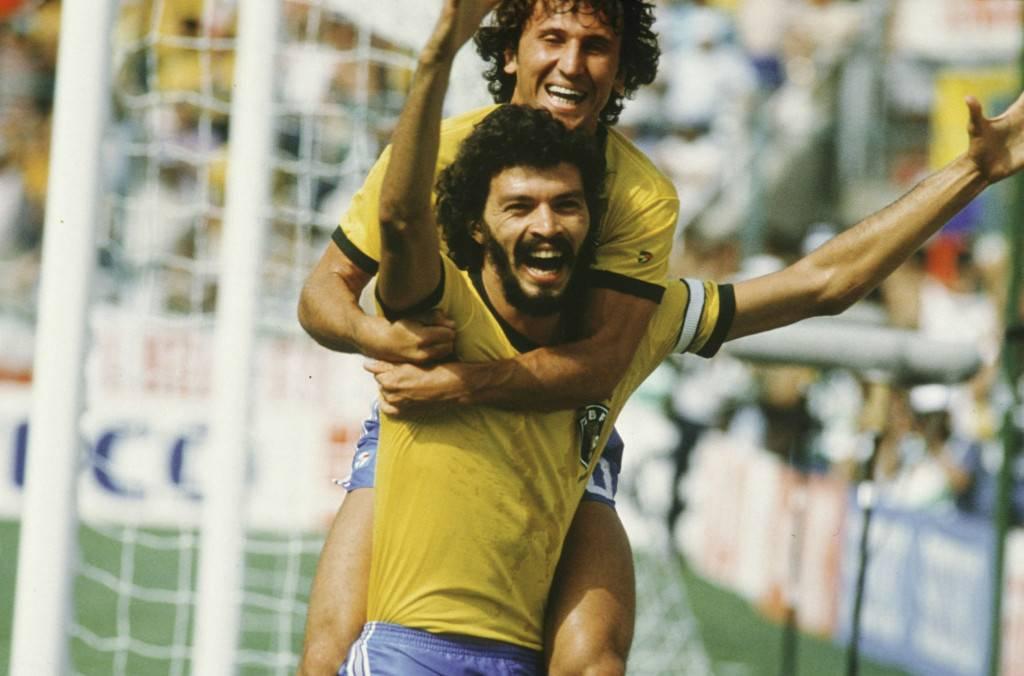 Zico y Sócrates en México 86