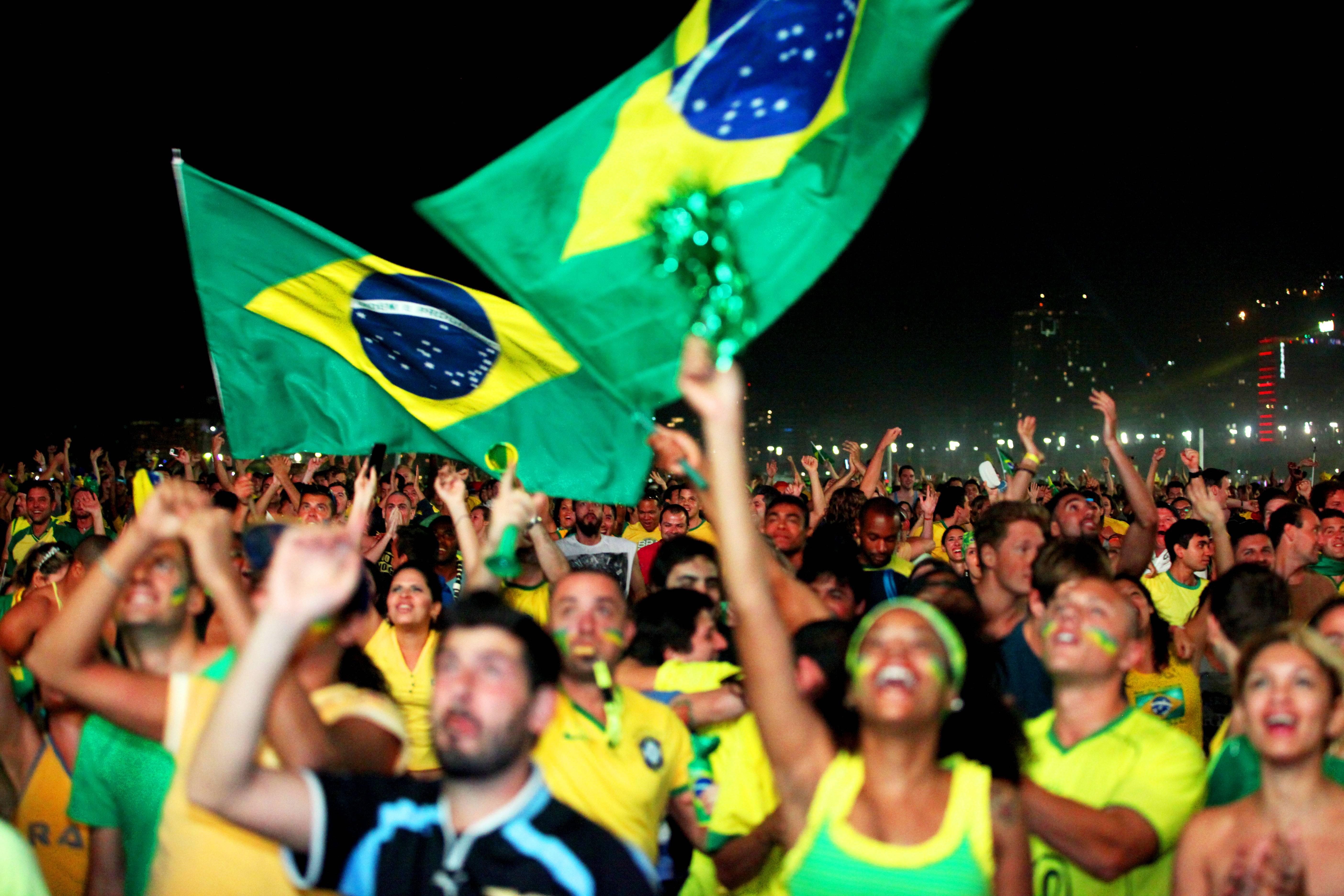 Primer partido del mundia en Copacabana