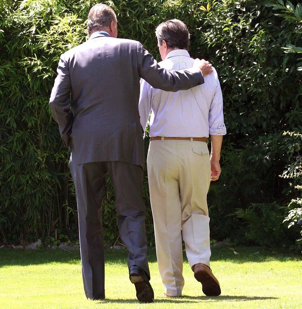 La última imagen del Rey y Suárez juntos. El expresidente ya padecía alzheimer.