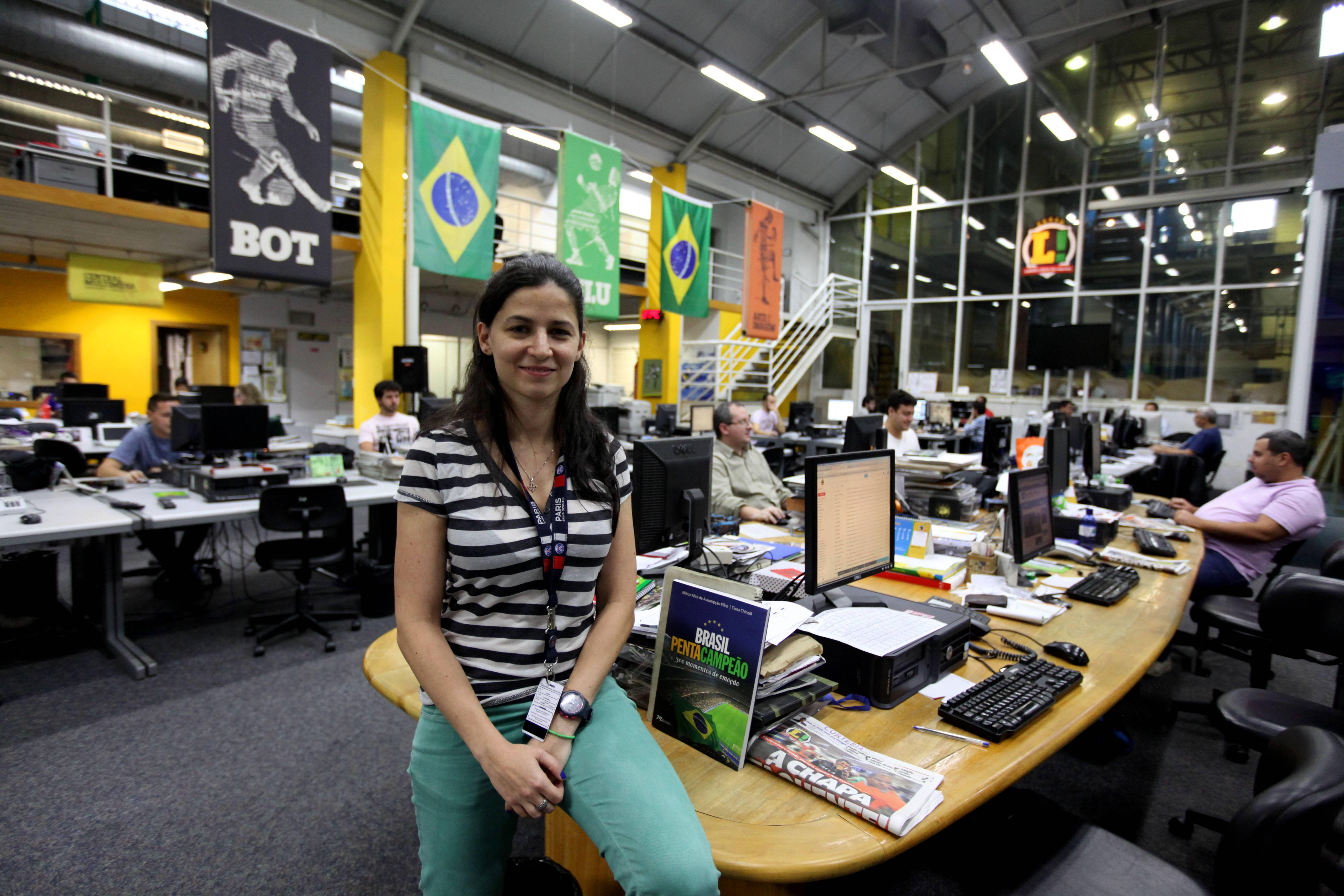 Joana Bueno, redactora jefe Lance, Brasil