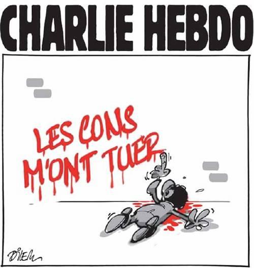 """Los idiotas me han matado"", Dilem, @dilemofficiel, publicado en Liberté (Argelia) el 09/01/2015"