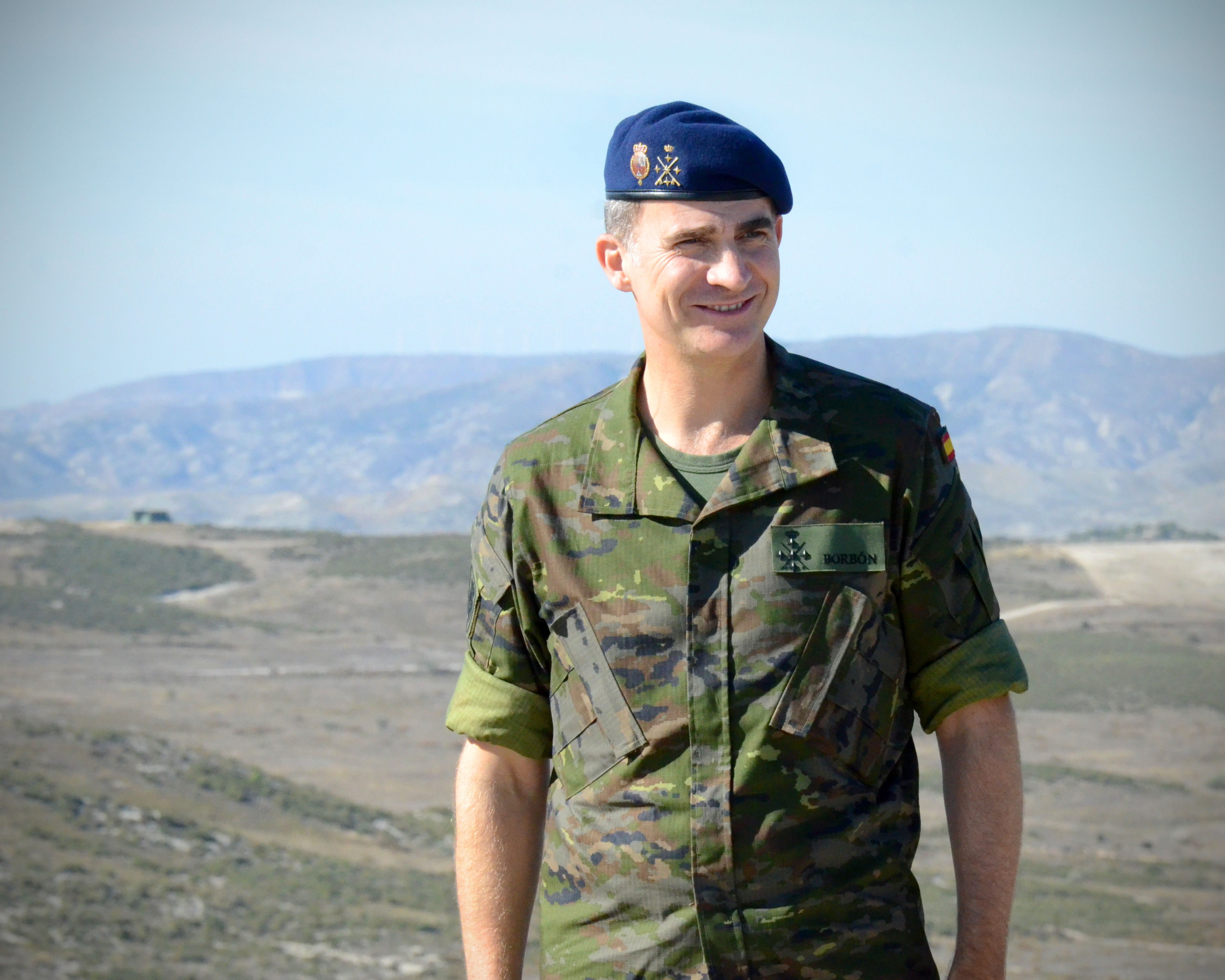 A portrait of His Majesty the King Felipe VI on 30 october during Trident Juncture 2015