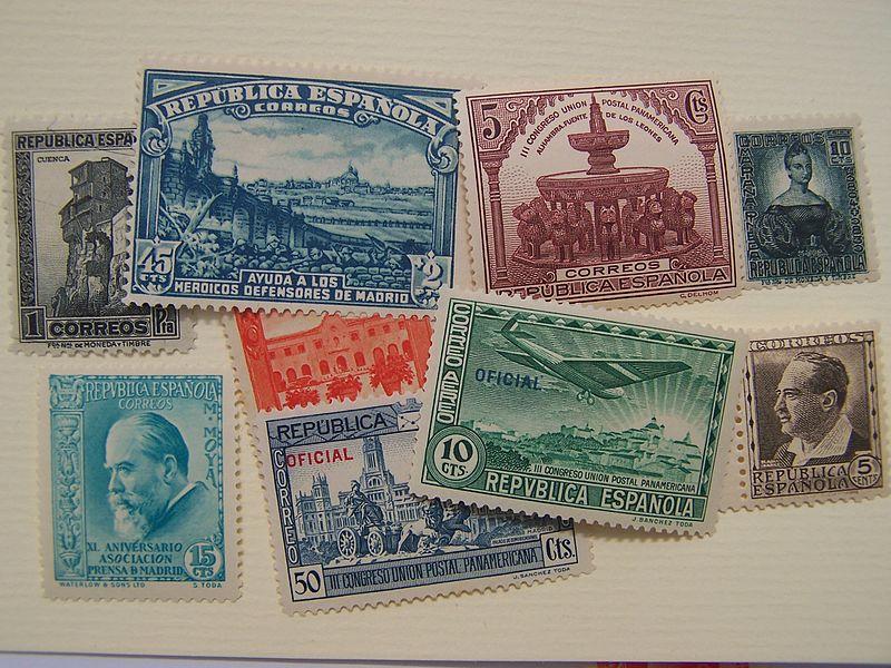 Sellos_de_correos_de_la_II_República_española,_1931-1939